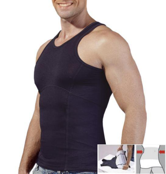 belly shaper bauchweg shapewear shirt f r herren ebay. Black Bedroom Furniture Sets. Home Design Ideas
