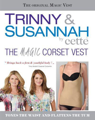 The Magic Corset vest from Trinny & Susannah accentuates your waist, flattens your tummy, shapes your torso and supports lower back