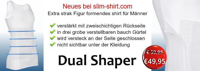 extra starke Figur formendes Shirt mit Bauchweggürtel Bauchweggurt